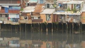 Krottenwijk op de rivier saigon vietnam 7 mening Royalty-vrije Stock Foto's