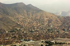 Krottenwijken in Lima in Peru stock fotografie