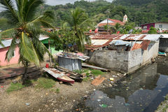 Krottenwijken in Portobelo Panama Royalty-vrije Stock Fotografie