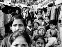 Krottenwijkkinderen van Delhi, India Stock Fotografie