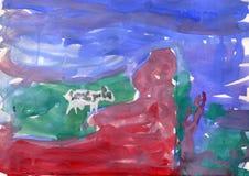 Krowa dzieciaka rysunek royalty ilustracja