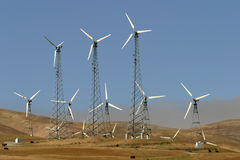 krowa generatorów zanieczyszczenia wiatr Fotografia Stock