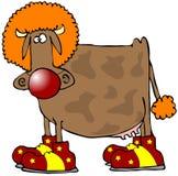 krowa klaun ilustracji