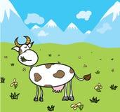 krowa paśnik ilustracja wektor