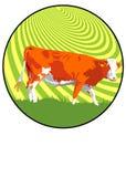 krowa znak Zdjęcie Stock