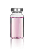 Krowiankowa buteleczka odizolowywająca na bielu fotografia royalty free