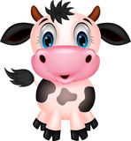Krowy śliczna kreskówka Zdjęcia Stock