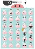 Krowy emoji ikony royalty ilustracja