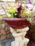 krowy flowerpot śmieszna ogrodowa statua Zdjęcia Stock
