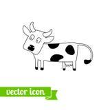 Krowy ikona 2 Obraz Royalty Free