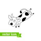 Krowy ikona 3 Obrazy Stock