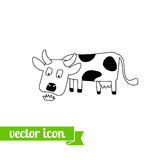 Krowy ikona 1 Obrazy Stock