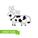 Krowy ikona 4 Obrazy Royalty Free