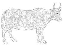 Krowy kolorystyki wektor dla dorosłych Fotografia Royalty Free