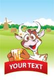 krowy mleka garnek ilustracji