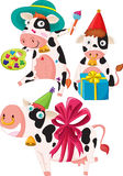 krowy trzy Zdjęcia Stock