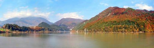 Krpelany,斯洛伐克的水库 免版税图库摄影