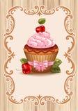 Körsbärsröd muffin Royaltyfria Foton