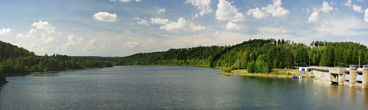 Kružberk. Dam , North Moravia , Czech Republic.Panorama photo Stock Images