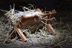 Krubba i det stabila abstrakta julsymbolet royaltyfria bilder