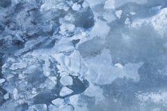 Kruchy cienieje lód Zdjęcie Royalty Free