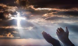 Krucyfiks Od nieba fotografia stock