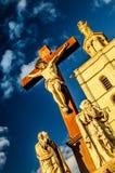 Krucyfiks przy pałac popes Fotografia Royalty Free
