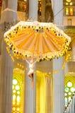 Krucyfiks wśrodku kościół Fotografia Royalty Free