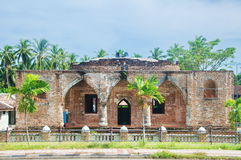 The Krue Se Mosque. The old Krue Se Mosque at Pattane Thailand Stock Photo