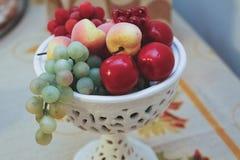 Krug Früchte für Dekoration Lizenzfreie Stockfotos