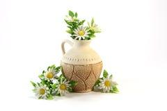 Krug mit Blumen Stockbilder