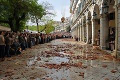 Krug und Topf, die in Korfu werfen Lizenzfreie Stockfotos