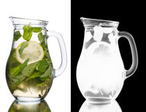 Krug von mojito Cocktail Lizenzfreie Stockfotos
