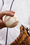 Krug zeigt seinen Baseball-Griff Lizenzfreies Stockbild