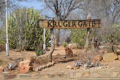 Kruger gate , Paul kruger gate in Kruger National park royalty free stock photography