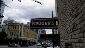 Kruger`s sign on the side of a building royalty free stock photo