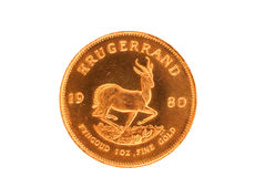 Krugerrand d'or Photographie stock libre de droits