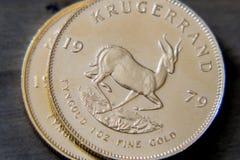 Krugerrand surafricano 1oz multa el oro Fotos de archivo libres de regalías