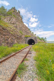 The Krugobajkalsky railway. Tunnel Stock Image