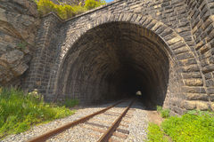 The Krugobajkalsky railway. Tunnel Stock Photo