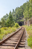 The Krugobajkalsky railway. Tunnel Royalty Free Stock Images