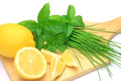 Kruid en citroen stock afbeelding