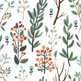 Kruiden, brunch, de vector van het bloemenpatroon Stock Afbeelding