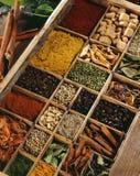 Kruiden in een compartimentendoos Stock Foto