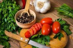 Kruiden, een mengsel van gekleurde peper royalty-vrije stock foto