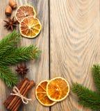 Kruiden en droge sinaasappelen Royalty-vrije Stock Foto