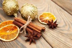 Kruiden en droge sinaasappelen Royalty-vrije Stock Fotografie