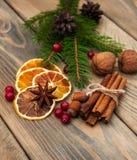 Kruiden en droge sinaasappelen Royalty-vrije Stock Foto's