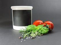Kruiden en ingrediënten royalty-vrije stock afbeelding
