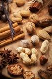 Kruiden en noten Royalty-vrije Stock Afbeelding